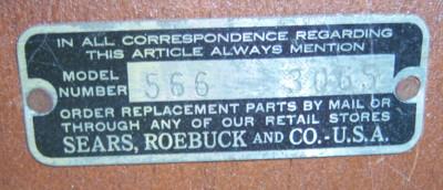The original metal tag